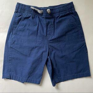 Land's End Blue Drawstring Cotton Shorts M 10S-12S